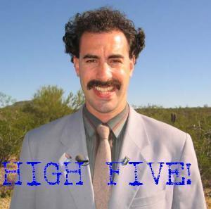 borat high five