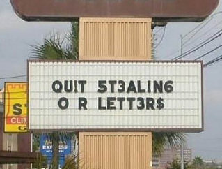 stealing letters