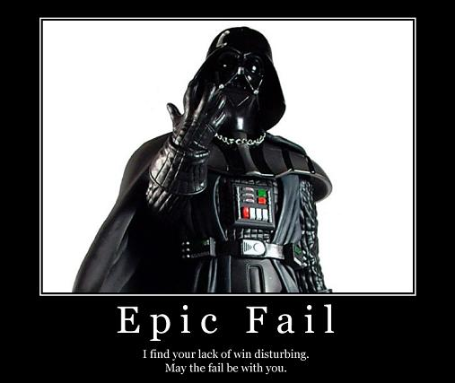 Darth Vader - Epic FAIL