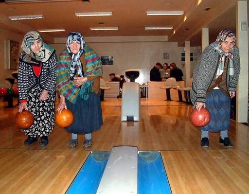 Old Ladies Bowling