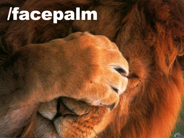 facepalm lion