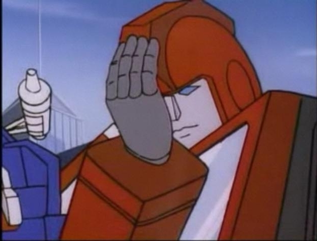 transformers facepalm